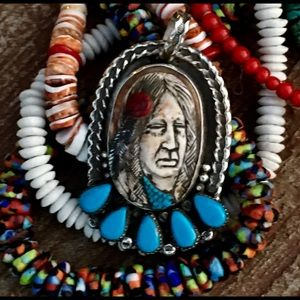 Francisco Gomez Indian Maiden Pendant